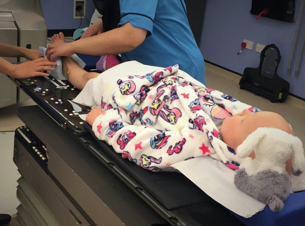 Ruby having radiotherapy